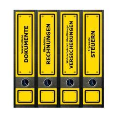 Ordner Rückenschilder Yellow Signs