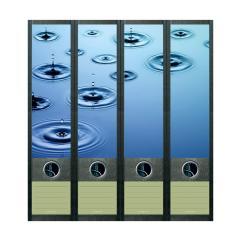 Ordner Rückenschilder Waterdrops