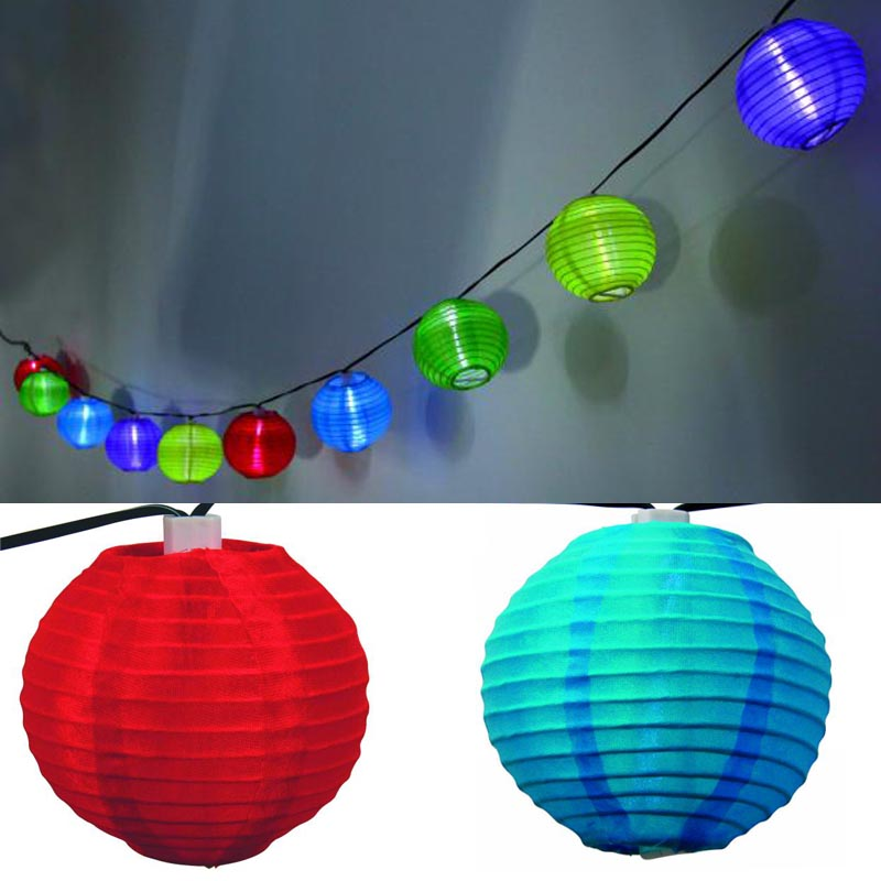 geschenkwichtel solar lampion kette mit 10 bunten lampions. Black Bedroom Furniture Sets. Home Design Ideas