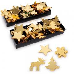 Gold-spiegelnde Geschenk-Sticker