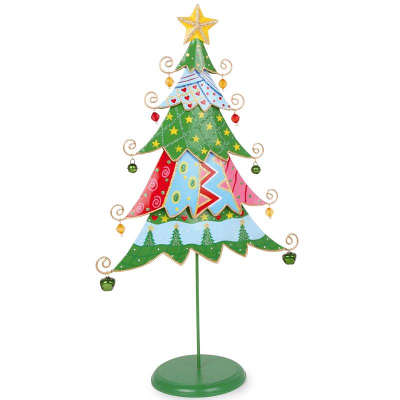 Tannenbaum Aus Blech.Geschenkwichtel Kunterbunter Metall Weihnachtsbaum