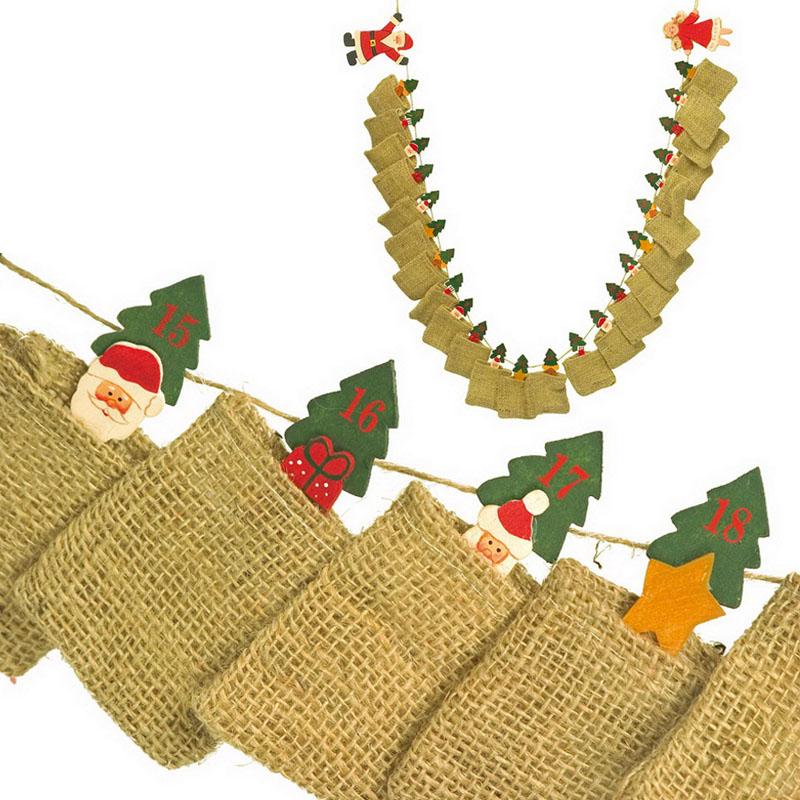 geschenkwichtel adventskalender mit jute s ckchen zum selber bef llen. Black Bedroom Furniture Sets. Home Design Ideas
