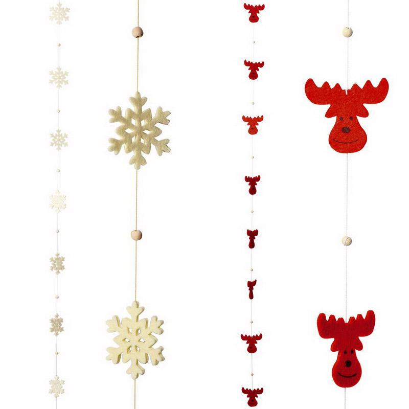 Geschenkwichtel filzgirlande weihnachtsdekoration 2 er - Weihnachtliche dekorationsideen ...