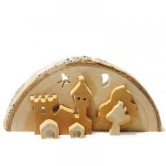 3D-Schloß aus Holz