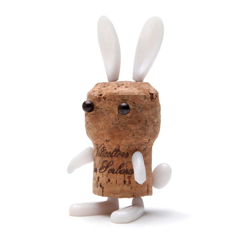 geschenkwichtel korken deko bunny erwecke sektkorken zum. Black Bedroom Furniture Sets. Home Design Ideas