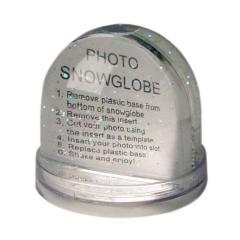 Schneekugel mit Foto Bilderrahmen
