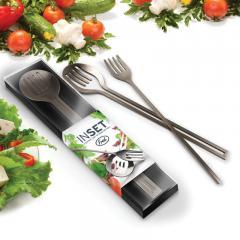 Design Salatbesteck aus Edelstahl INSET