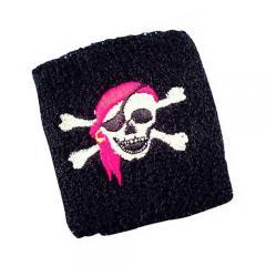 Schweißband Pirat - Totenkopf Skull