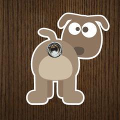 Türspion-Sticker Hund