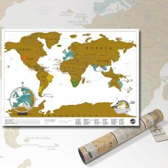 Rubbel Weltkarte Scratch Map Travel Edition