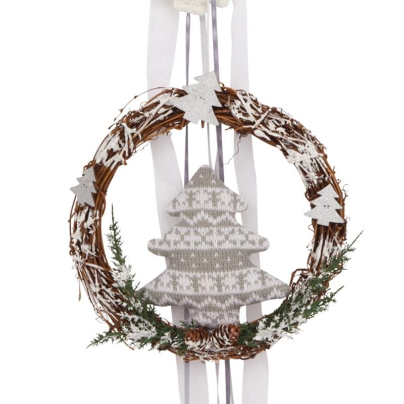 geschenkwichtel t rkranz weihnachten mit weihnachts girlande. Black Bedroom Furniture Sets. Home Design Ideas
