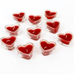Teelichter in Herzform