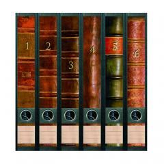 Ordner Rückenschilder Buchrücken 1-6