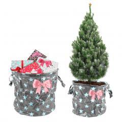 Weihnachts-Deko Taschen 2er Set Sterne