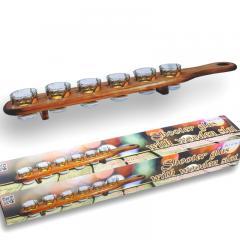 Shooter-Set mit Servier-Holzlatte 6-teilig
