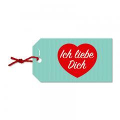 Geschenkanhänger - Ich liebe Dich
