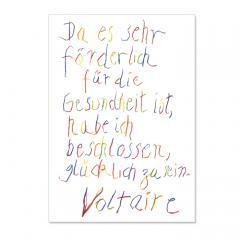 Postkarte Glücklich