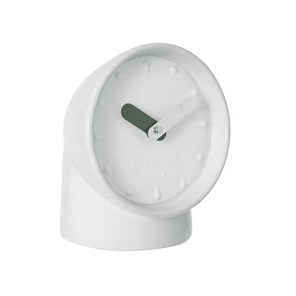 geschenkwichtel keramik tischuhr persicope weiss karlsson. Black Bedroom Furniture Sets. Home Design Ideas