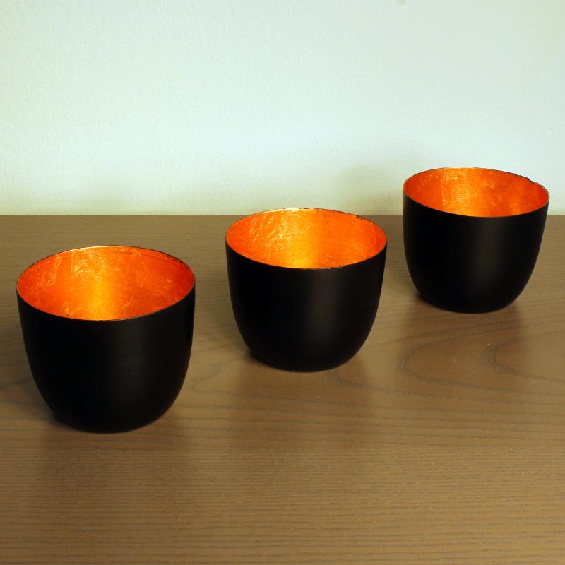geschenkwichtel windlicht schwarz kupfer. Black Bedroom Furniture Sets. Home Design Ideas