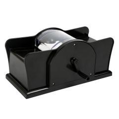 Kartenmischmaschine mit Kurbel