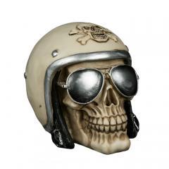 Spardose Biker Skull