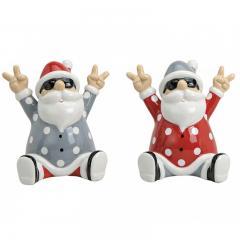 Keramikfigur Rocking Santa