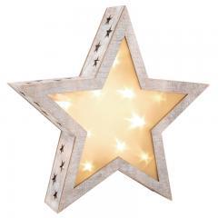 Leuchtstern 3D - Shabby Chic
