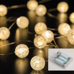 Micro LED Lichterkette 20 Kugeln