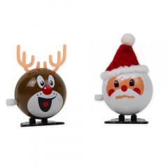 Aufziehfiguren Weihnachtsmann und Rentier