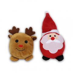 Plüsch Beanie Bag-Set Santa & Elch