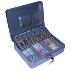 Geldkassette mit Zählbrett