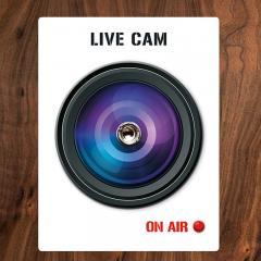 Türspion-Sticker Live Cam