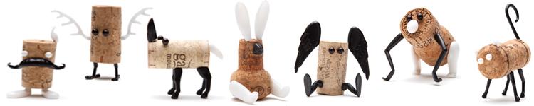 geschenkwichtel aus korken tiere basteln corkers korkentiere. Black Bedroom Furniture Sets. Home Design Ideas